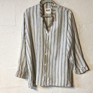 FLAX 100%  linen oversized tunic size large